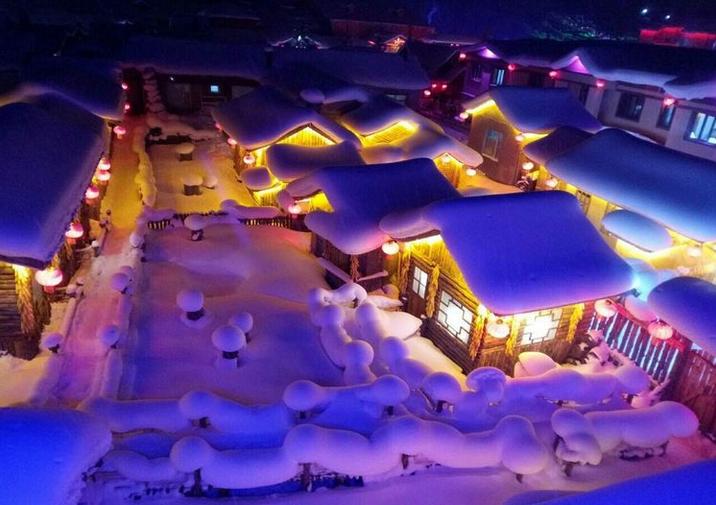温暖的雪景