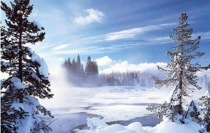 清晨的雪乡
